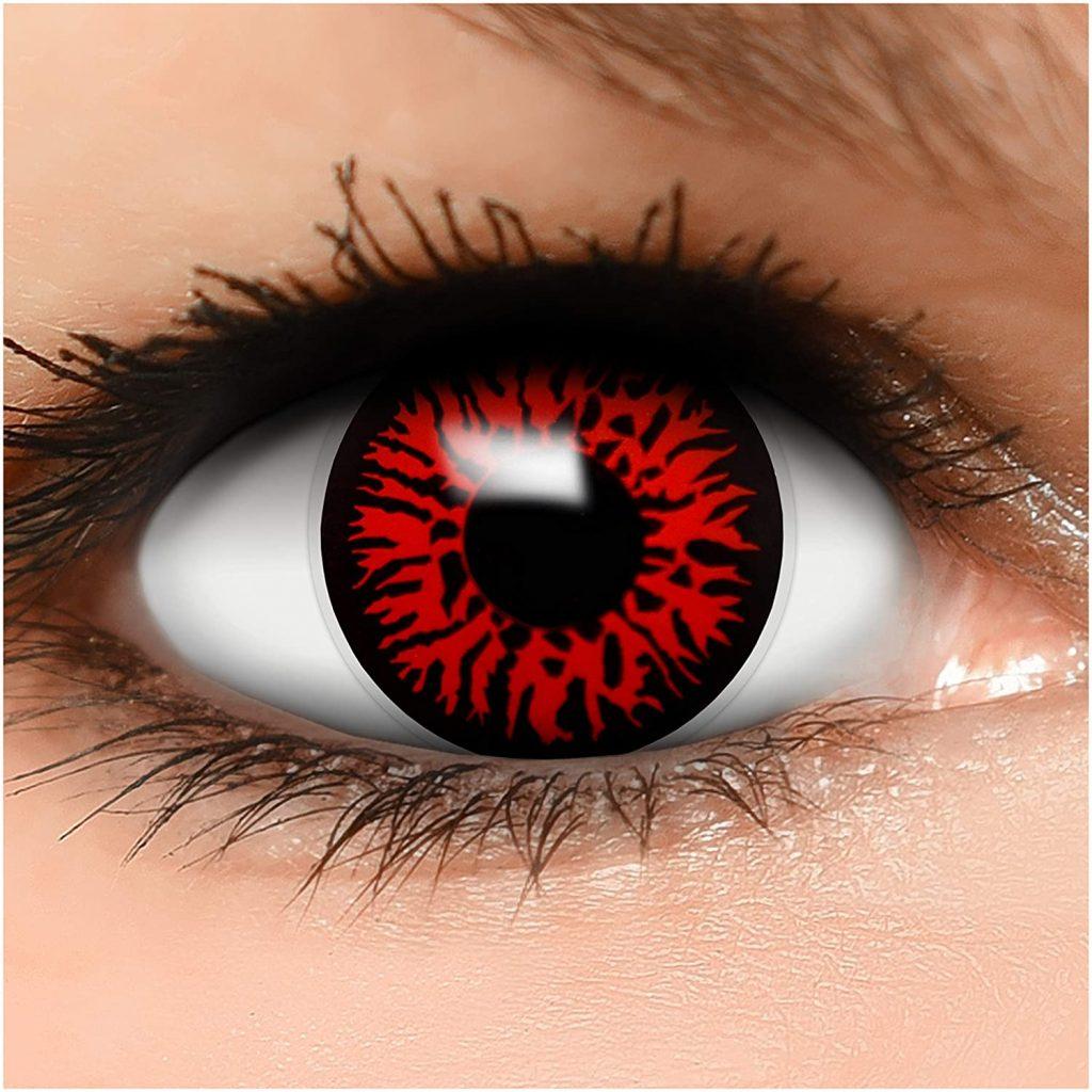 Lentilles de Contact de Couleur Noir-Rouge